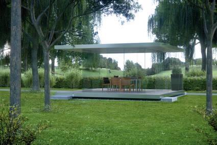 rundum transparent glas pavillon 360. Black Bedroom Furniture Sets. Home Design Ideas